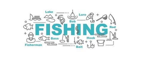 bandera de vector de pesca