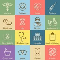 Medical outline design vector