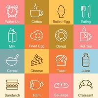 Breakfast outline design vector