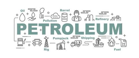 Petroleum vector banner