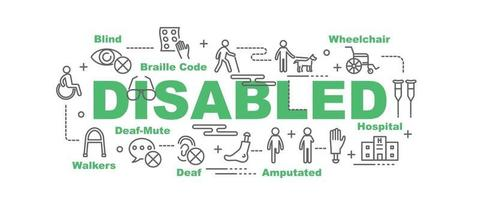 Disabled vector banner