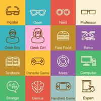 Geek outline design vector