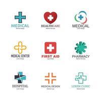 diseño de logotipo médico vector
