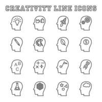 iconos de línea de creatividad vector