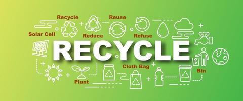 reciclar vector banner de moda