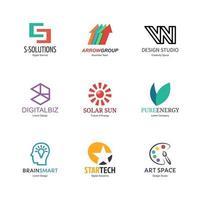 diseño de logotipo abstracto vector