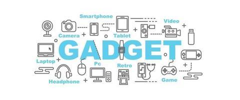 Gadget vector banner