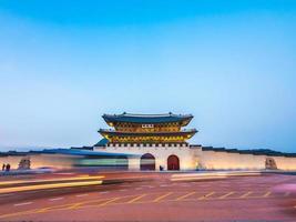 palacio gyeongbokgung, ciudad de seúl en corea del sur foto