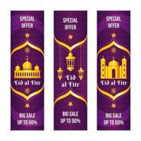 Elegant Purple Eid Al Fitr Marketing Tools Banner