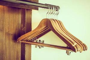 Empty clothes hanger photo
