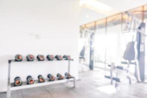 sala de gimnasio borrosa abstracta foto