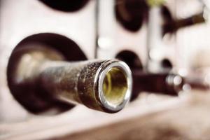 botella de vino vintage foto