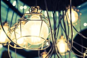Lamps hanging from the ceiling photo