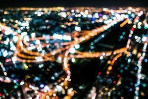 Abstract city bokeh light photo