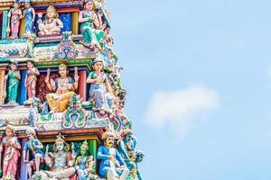 templo hindú indio en singapur foto