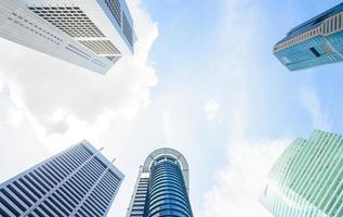 Skyscraper buildings in Singapore photo