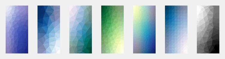 conjunto de fondos creativos abstractos vectoriales en estilo geométrico moderno - plantillas de diseño para publicaciones en redes sociales - diseños de fondos de pantalla de teléfonos inteligentes simples, elegantes y mínimos vector