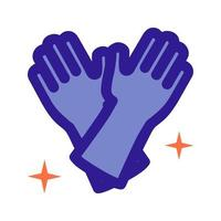 Latex gloves outline icon. Vector item from set, dedicated to cleaning and hygiene.