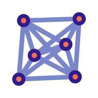 icono de esquema de enlaces sociales. elemento vectorial del conjunto, dedicado a big data y aprendizaje automático. vector