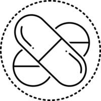 Line icon for pills vector