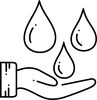 Line icon for blood transfusion
