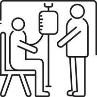 icono de línea para tratamiento médico vector