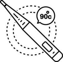 icono de línea para fiebre vector