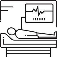 icono de línea para supervisión médica vector
