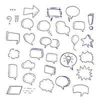 Speech bubbles doodle vector