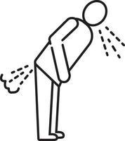 icono de línea para la diarrea vector
