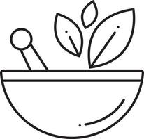 icono de línea para naturopatía vector