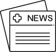 icono de línea para noticias médicas vector
