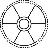 Line icon for radiation sign vector