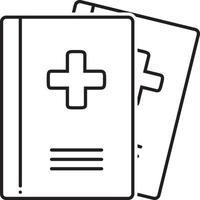 icono de línea para revistas médicas vector