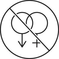 Line icon for sexual disorder vector