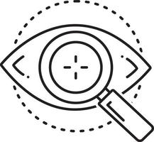 Line icon for eye test vector