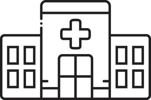 Line icon for clinic vector