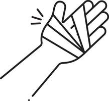Line icon for hand injury vector