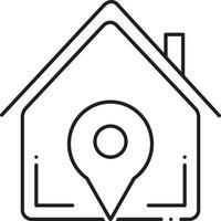 icono de línea para ubicación inmobiliaria vector