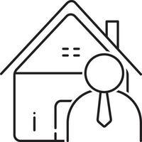 icono de línea para agente inmobiliario vector