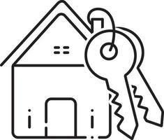 icono de línea de préstamo hipotecario vector