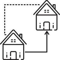 icono de línea para reemplazar el hogar vector