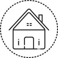 icono de línea de bienes raíces vector