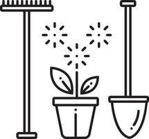 icono de línea para servicios de paisajes de jardín vector