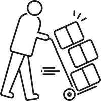 Line icon for moving services vector
