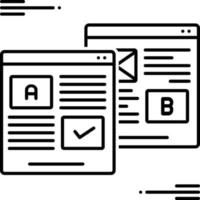 icono de línea para pruebas ab vector