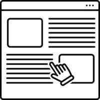 icono de línea para el usuario vector