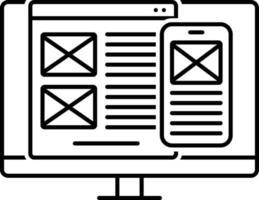 icono de línea para el diseño de la interfaz de usuario vector