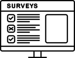 icono de línea para encuestas vector