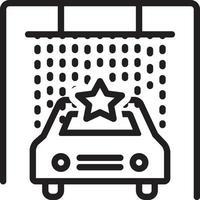 icono de línea para spa de coche vector